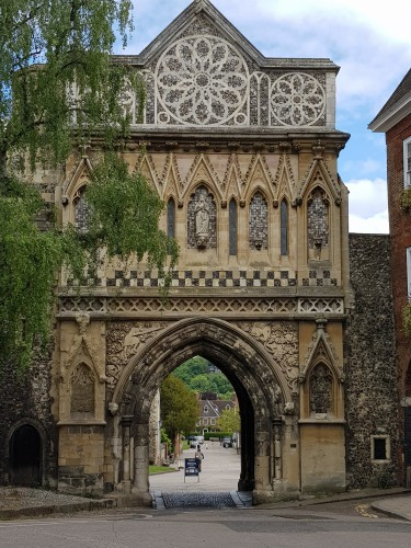 One of the gates to Norwich Cathedral